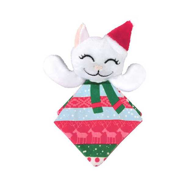 KONG Christmas Holiday Crackles Santa Kitty Cat Toy - Assorted