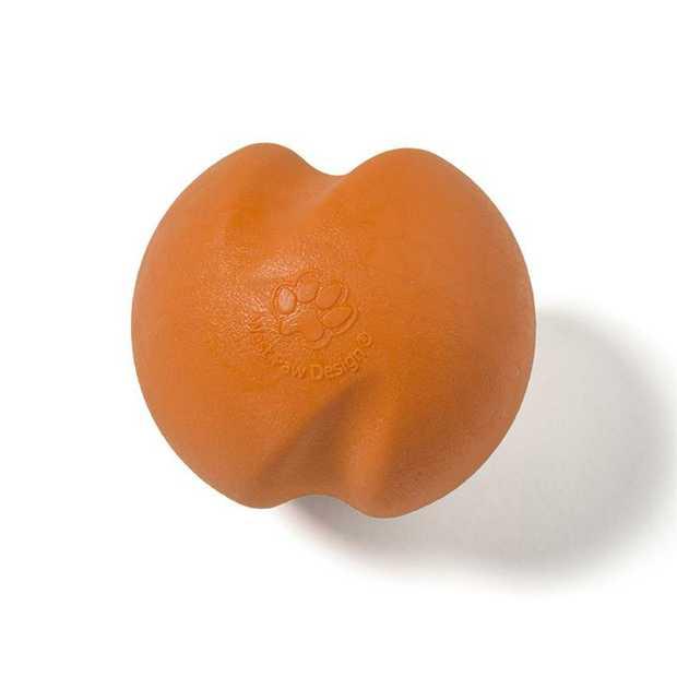West Paw Jive Zogoflex Fetch Ball Tough Dog Toy - X-Small - Orange