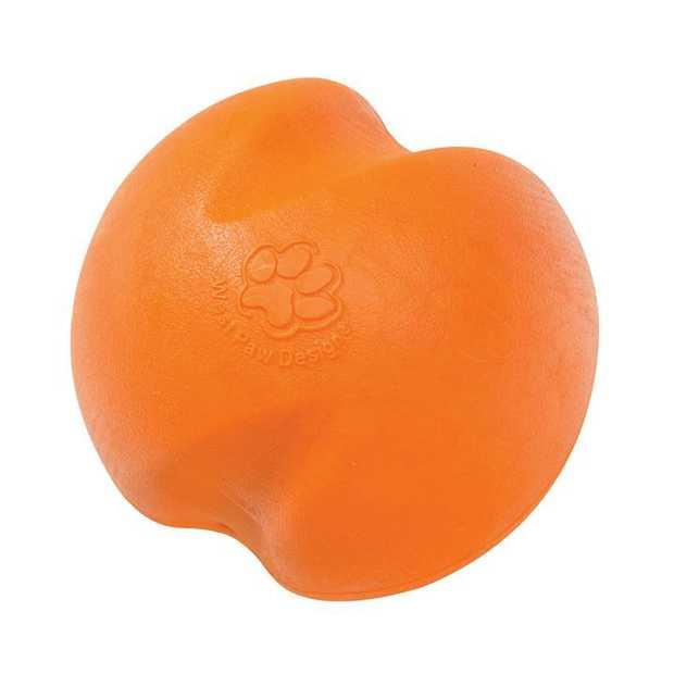 West Paw Jive Zogoflex Fetch Ball Tough Dog Toy - Large - Orange