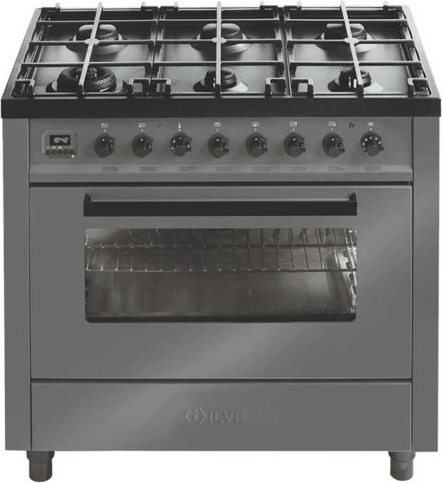 This ILVE upright cooker features an electric powered oven. Create a multi-course meal easily with its...
