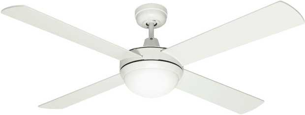 This Mercator ceiling fan's 1300mm blade diameter enables you to relax under the perfect-size fan. You...