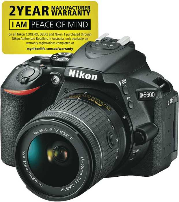 This Nikon DSLR camera comes with an 18-55mm lens, so you can take photos like a professional. Capture...