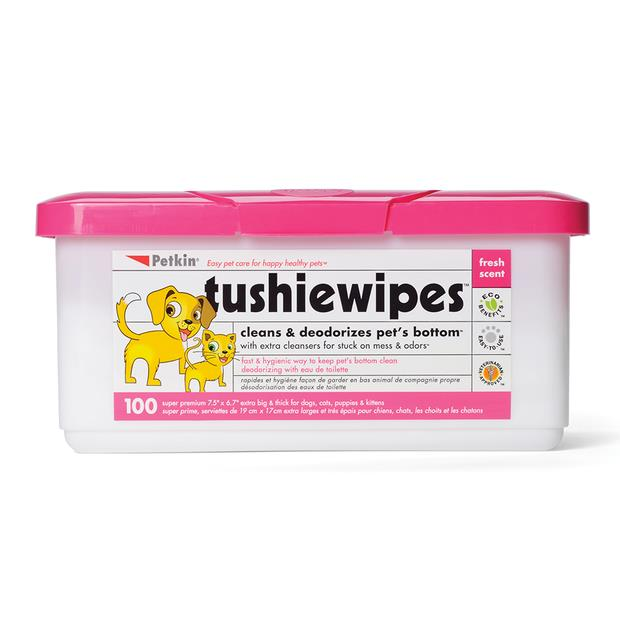 Petkin Tushie Wipes 100 Pack Pet: Dog Category: Dog Supplies  Size: 0.6kg  Rich Description: No matter...