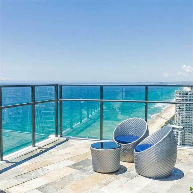 Stay in a self-contained apartment with spectacular ocean views just steps from the Gold Coast's...