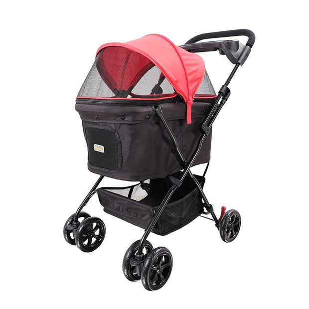 Ibiyaya Easy Strolling Pet Buggy for Cats & Dogs up to 20kg - Rouge Red