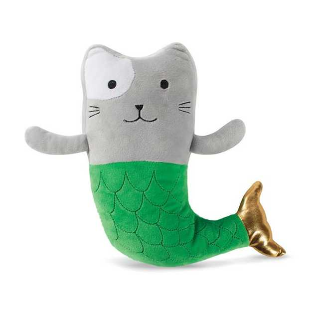 Fringe Studio Mercat Mermaid Cat Plush Squeaker Dog Toy