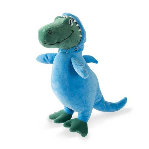 Fringe Studio Shark Rex Plush Squeaker Dog Toy