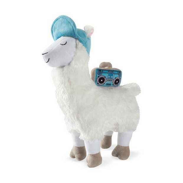 Fringe Studio Beats Llama Plush Squeaker Dog Toy
