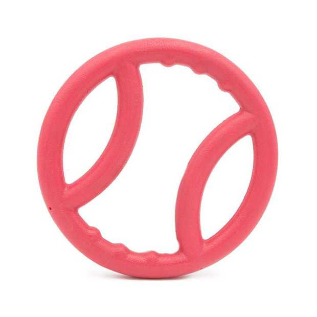 Zippy Paws ZippyTuff TPR Squeaker Ring Tug Dog Toy - Pink