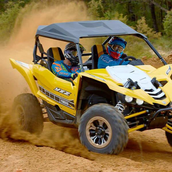 Get behind the wheel of a rally car or a Yamaha YXZ race buggy and prepare to take things off-road...