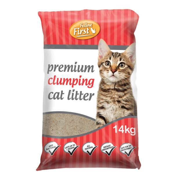 Feline First Clumping Litter 14kg Pet: Cat Category: Cat Supplies  Size: 14.1kg  Rich Description: Made...