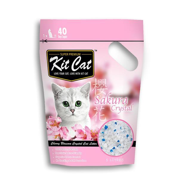 Kit Cat Litter Crystals Sakura 2.4kg Pet: Cat Category: Cat Supplies  Size: 2.4kg Material: Silica...