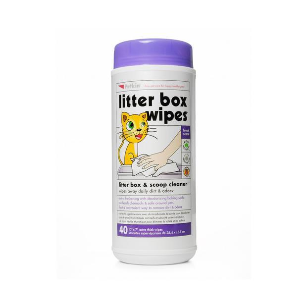Petkin Litter Box Wipes 40 Pack Pet: Cat Category: Cat Supplies  Size: 0.4kg  Rich Description: These...