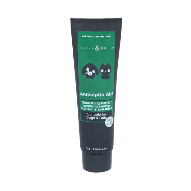 Rufus And Coco Antiseptic Aid 75g Pet: Dog Category: Dog Supplies  Size: 0.1kg  Rich Description: Rufus...