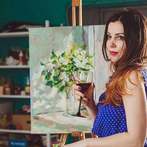 Let the drinks (and the creativity!) flow with a Paint & Sip social art class with Wesley Taylor Art...