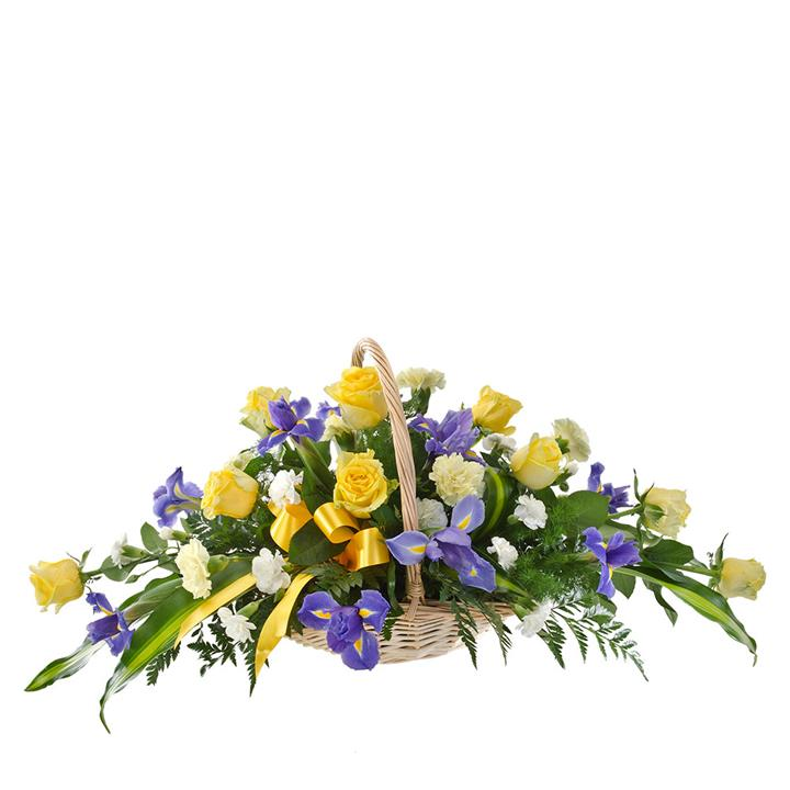 Celebrate a beautiful life with Thoughts of You. Mixed blooms in soft yellow and purple combine with...