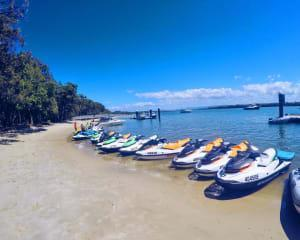 Blast your way along the beautiful sub tropical shores of South Stradbroke Island. Youll head north...
