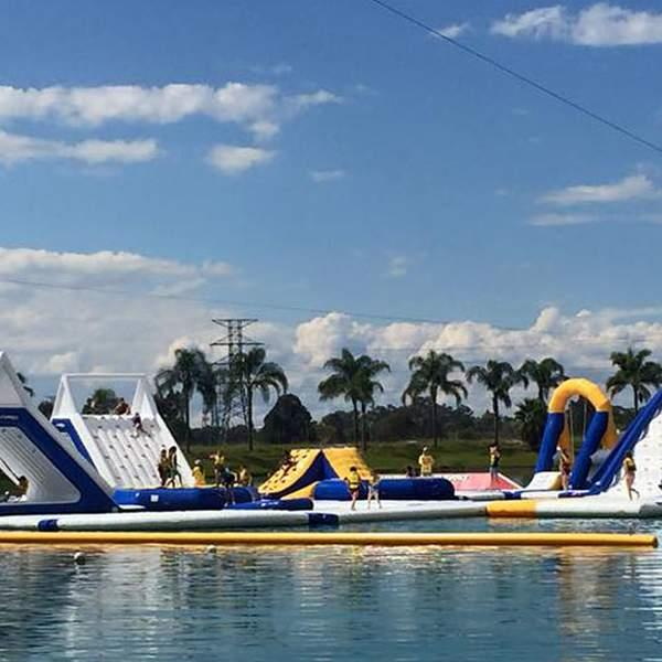 Now that the weather is warming up, make the most of it with a day of inflatable aquatic fun at Cables...