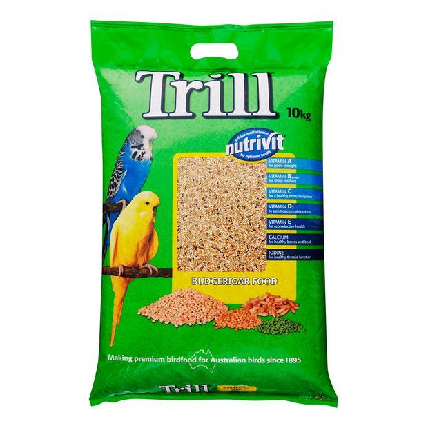 Trill Budgie Mix 10kg Pet: Bird Category: Bird Supplies  Size: 10kg  Rich Description: Trill has been...