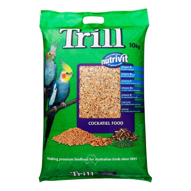 Trill Cockatiel Mix 10kg Pet: Bird Category: Bird Supplies  Size: 10kg  Rich Description: Trill has...