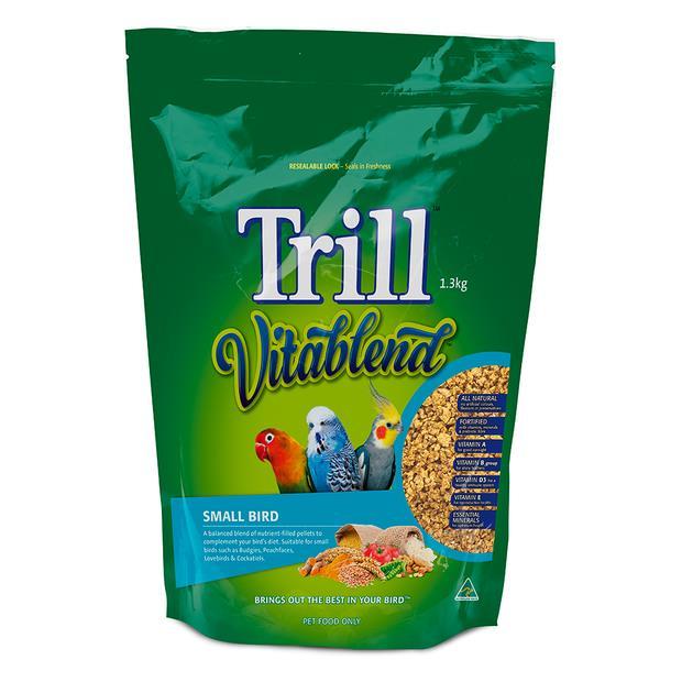 Trill Vitablend Small Bird Pellets 1.3kg Pet: Bird Category: Bird Supplies  Size: 1.3kg  Rich...