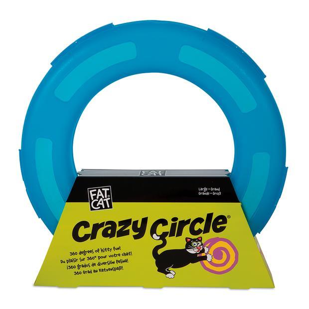 Fat Cat Crazy Circle Cat Toy Large Pet: Cat Category: Cat Supplies  Size: 0.7kg Colour: Blue  Rich...