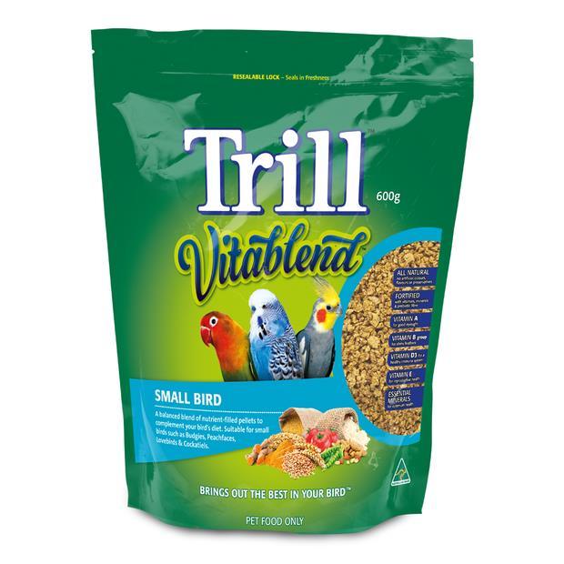 Trill Vitablend Small Bird Pellets 600g Pet: Bird Category: Bird Supplies  Size: 0.6kg  Rich...