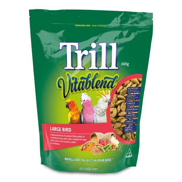 Trill Vitablend Large Bird Pellets 600g Pet: Bird Category: Bird Supplies  Size: 0.6kg  Rich...