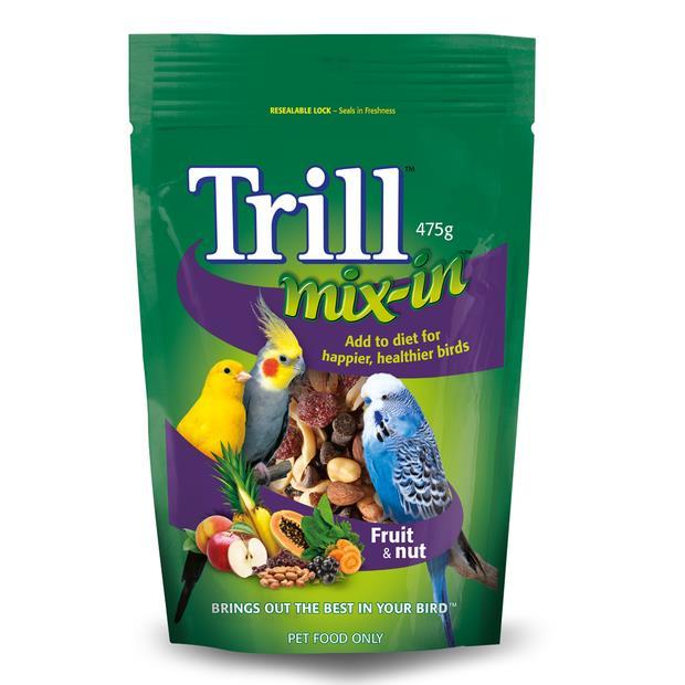 Trill Mix In Fruit And Nut Blend 475g Pet: Bird Category: Bird Supplies  Size: 0.5kg  Rich Description:...