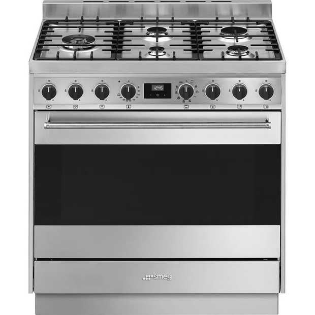 5 Burners 126L Oven capacity 10 functions 5 Cooking levels Thermoseal Ever clean enamel Finish:...