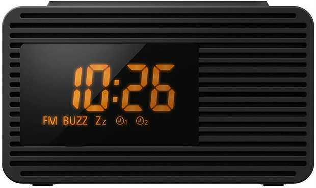 10 Station Presets Preset Memory (FM 10) Auto Tuning Large Display & Timer Functions Orange LED Display...