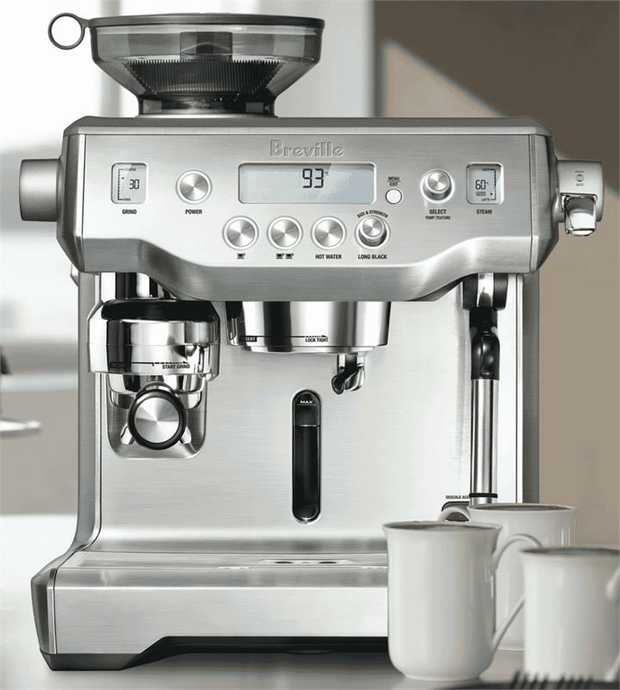 This Breville coffee machine's espresso maker enables you to brew espresso drinks whenever you want. It...