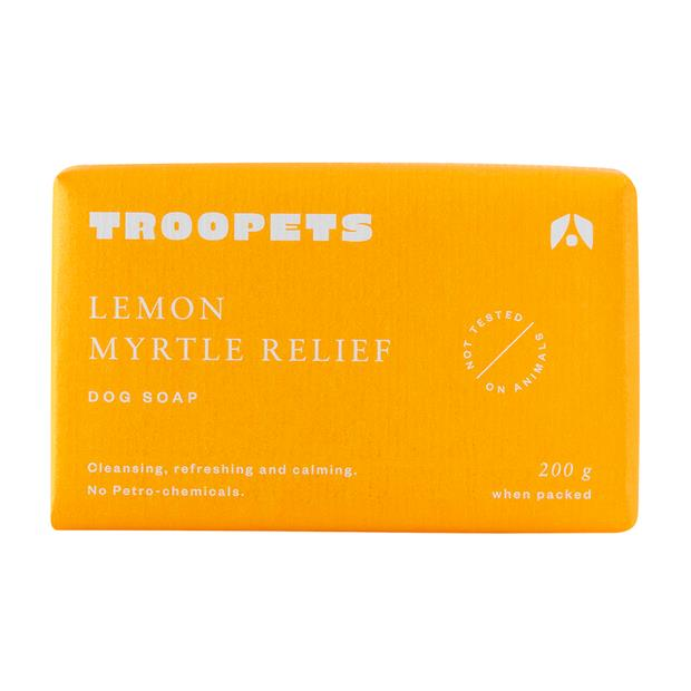 Troopets Dog Soap Lemon Myrtle Relief 200g Pet: Dog Category: Dog Supplies  Size: 0.2kg  Rich...