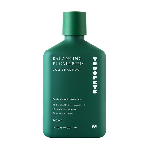 Troopets Dog Shampoo Balancing Eucalyptus 340ml Pet: Dog Category: Dog Supplies  Size: 0.3kg  Rich...