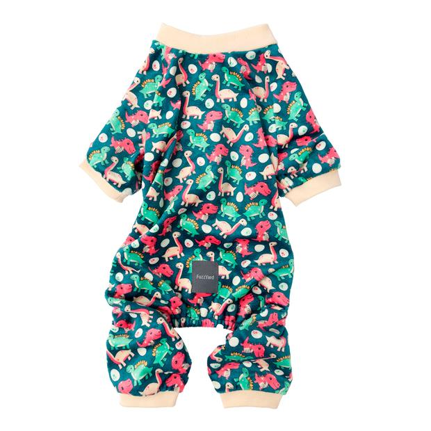Fuzzyard Pyjama Dinosaur Land Size 7 Pet: Dog Category: Dog Supplies  Size: 1.6kg Colour: Multi  Rich...