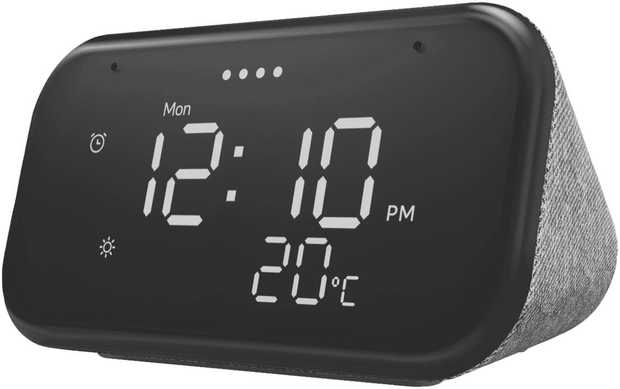 The ultimate smart clock for any room, this Lenovo Smart Clock Essential ZA740009AU features a big and...