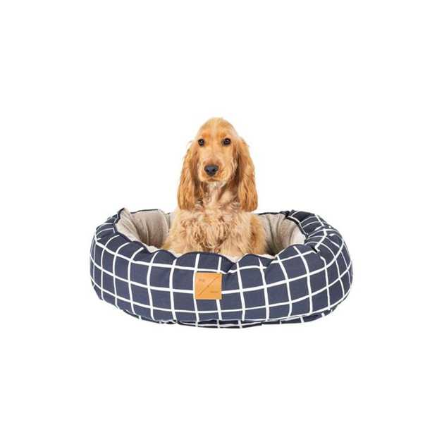 The Mog & Bone 4 Seasons Circular Dog Bed Navy Check  is a versatile, reversible bed that can be...