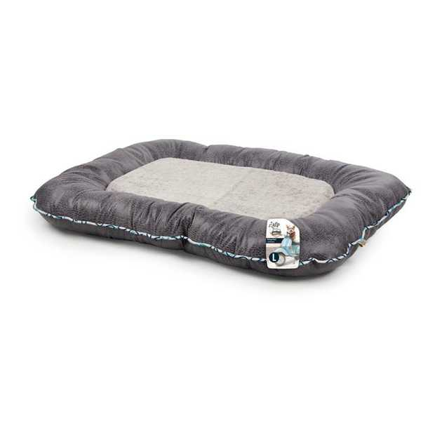 The All For Paws Vintage Grey Dog Bed  provides a warm, cosy and comfortable spot for your dog to lie...