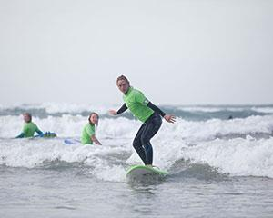 Get out on the water and take on the adventure of learning to surf with a two-hour surf lesson at Moana...