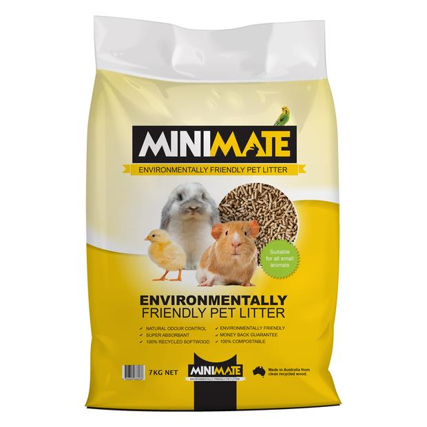 Minimate Wood Pellet Small Animal Litter 7kg Pet: Small Pet Category: Small Animal Supplies  Size: 7kg...