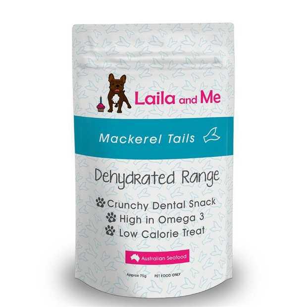Laila & Me Dehydrated Australian Mackeral Tails Cat & Dog Treats 80g