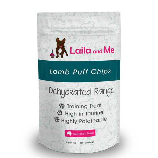 Laila & Me Dehydrated Australian Lamb Chips with 100% Lamb for Cats & Dogs 75g