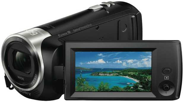 This Sony video camera's 6.86 cm LCD screen viewfinder enables you to keep the camcorder steady while...