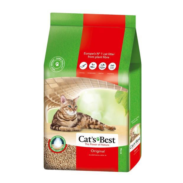 Cats Best Oko Plus 30L Pet: Cat Category: Cat Supplies  Size: 13.5kg Material: Plant Fibre  Rich...