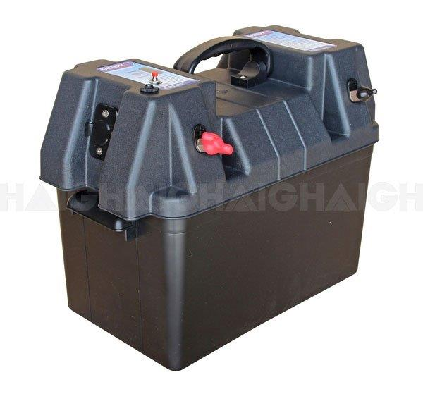 These quality powered battery boxes are made of sturdy polypropylene and include quick release hold...