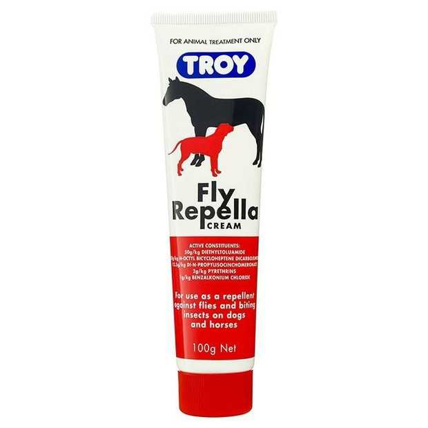 Troy Fly Repella Odourless Insect Reppellant Cream for Dogs and Horses 100g