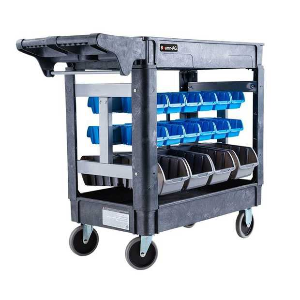 The Baumr-AG Shelf Utility Storage Bin Cart is an extremely tough unit which is made for trade. Capable...