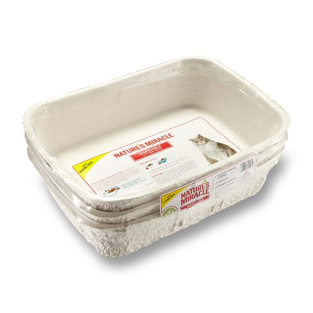 Natures Miracle Disposable Cat Litter Box 3 Pack Pet: Cat Category: Cat Supplies  Size: 1.2kg  Rich...