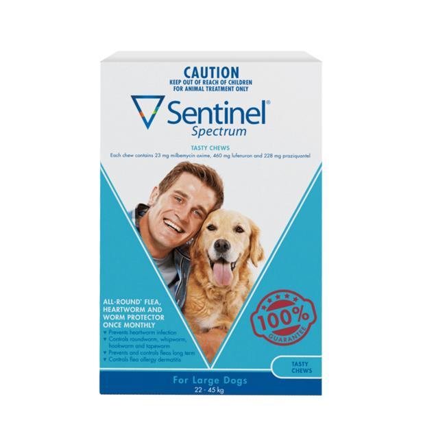 Sentinel Spectrum Chews Large Blue 2 X 6 Pack Pet: Dog Category: Dog Supplies  Size: 0.4kg  Rich...