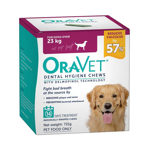 Oravet Dental Hygiene Chews Large 2 X 14 Chews Pet: Dog Category: Dog Supplies  Size: 1kg  Rich...